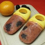 Tangerine Blackberry Ice Pops