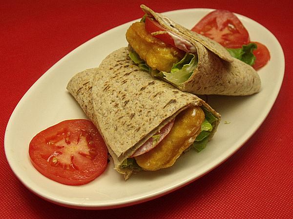 Vegan Fishless Filet Wrap Sandwich