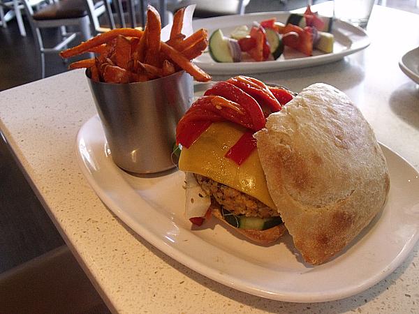 Custom Veggie Burger at The Counter, Irvine, California