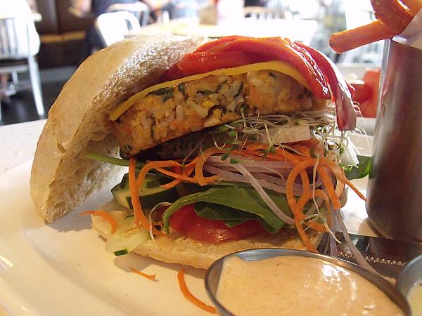 Custom Veggie Burger at at The Counter, Irvine, California