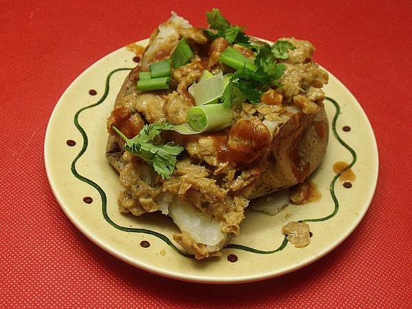 Vegan Gluten-free Carnitas Baked Potatoes