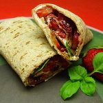 Strawberry Basil Wrap Sandwich