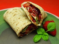 Strawberry Basil Wrap