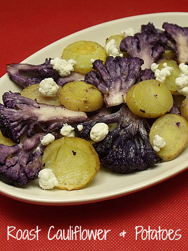 Roast Purple Cauliflower and Baby Potatoes
