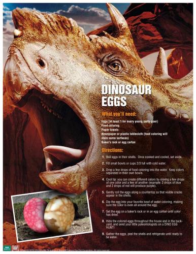 Dinosaur Eggs for Easter