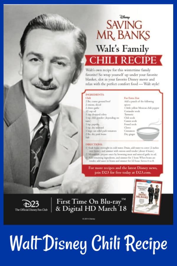 Disney Chili Recipe From Walt Disney Mama Likes To Cook