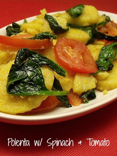 Polenta with Spinach & Tomato