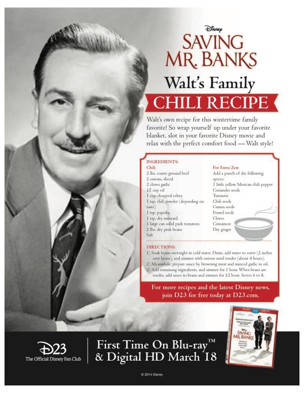 disney chili recipe