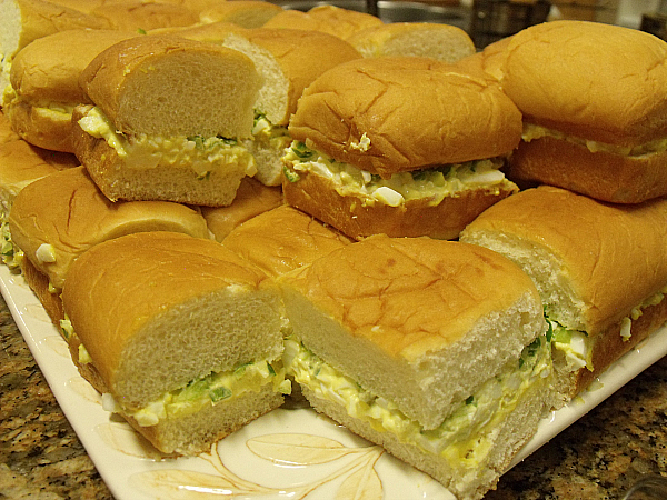 Egg Salad Sandwiches with Pepper Relish