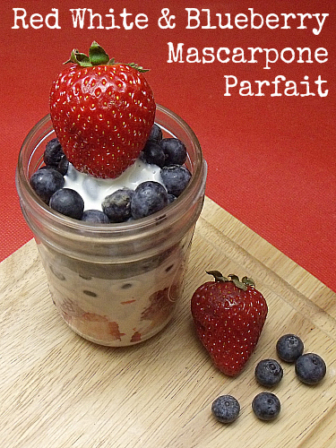 Red, White and Blueberry Mascarpone Parfait