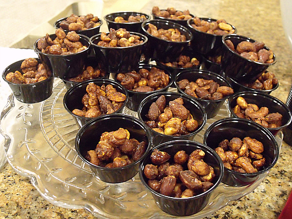 Sweet, Smoky Spicy Party Nuts