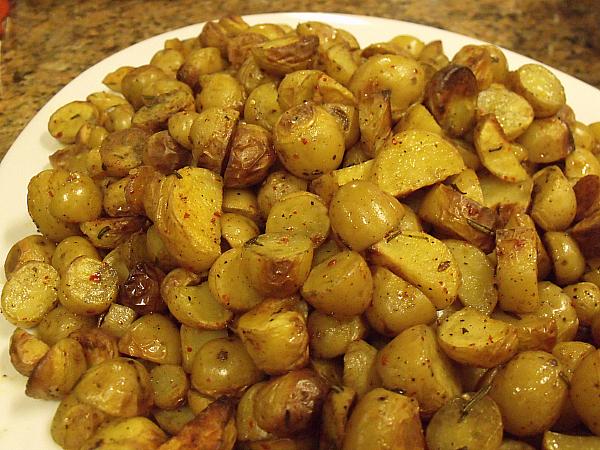Chile Roasted Dutch Yellow Potatoes
