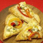 Sweet Pepper & Blue Cheese Bruschetta