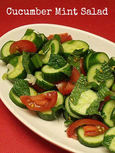 Cucumber Mint Salad Recipe