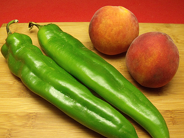 Hatch Chiles and Peaches