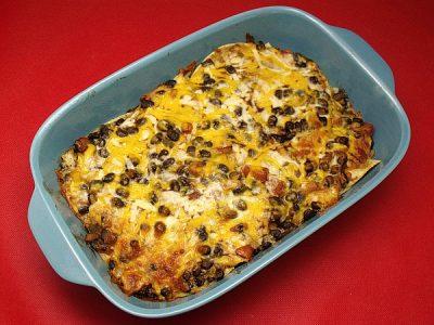 Vegetarian Mexican Tortilla Casserole