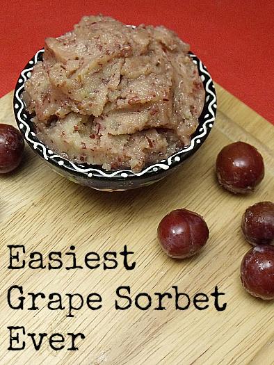Easy Grape Sorbet