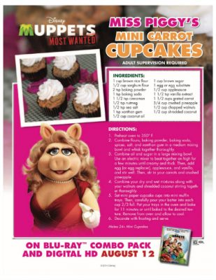 Muppets Miss Piggy Mini Carrot Cupcakes