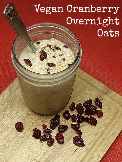 Vegan Cranberry Overnight Oats