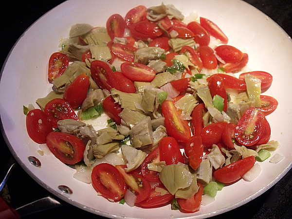 Artichoke Hearts and Grape Tomatoes