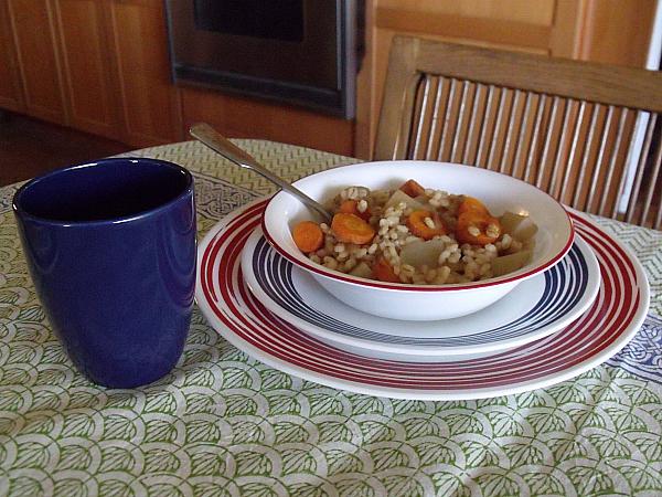 Slow Cooker Vegan Barley Stew