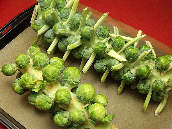 Roasted Brussels Sprouts on The Stalk