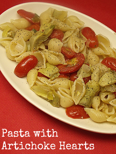 Pasta with Artichoke Hearts and Grape Tomatoes