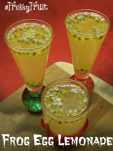 Frog Egg Lemonade for Halloween - Thank you Melissa's Produce for the #FreakyFruit