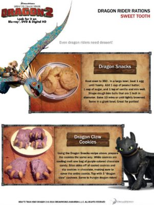Dragon Snacks and Dragon Claw Cookie Recipes