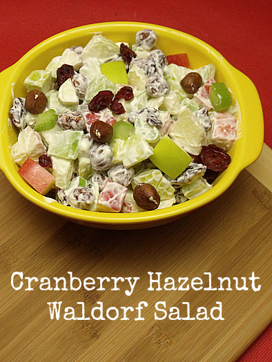 Cranberry Hazelnut Waldorf Salad