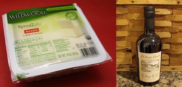 Wildwood Silken Tofu and Holman Ranch Extra Virgin Olive Oil