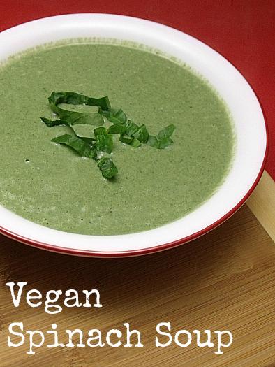 Vegan Creamy Spinach Soup