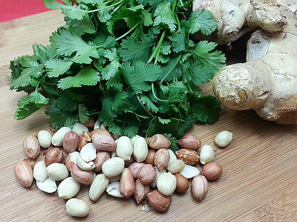 cilantro ginger peanuts