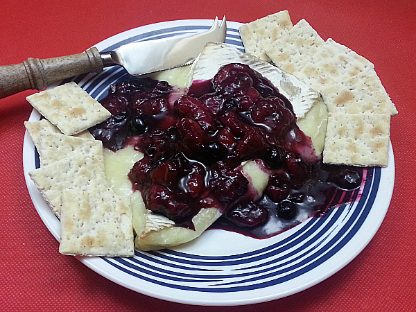 Berry Citrus Compote with Baked Brie