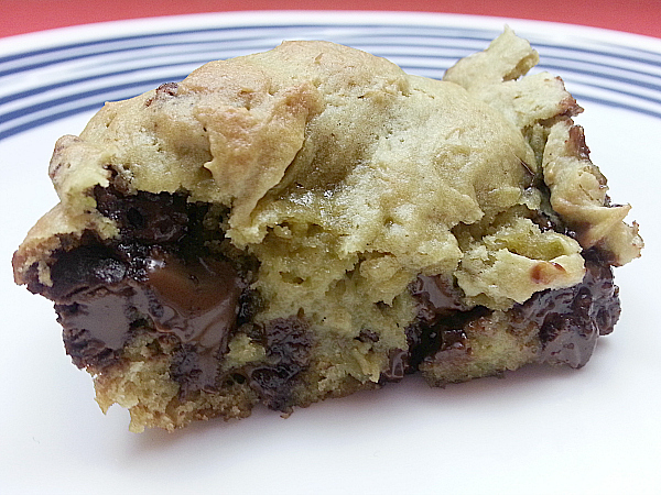 Avocado Chocolate Chip Cookie Bars
