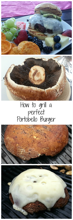 How to Grill a Perfect Portobello Mushroom - Vegetarian Vegan Burger