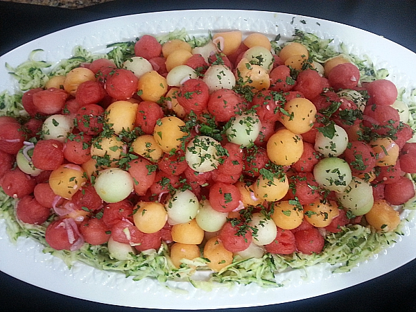 In a French Kitchen: Melon Salad with Shallot Vinaigrette