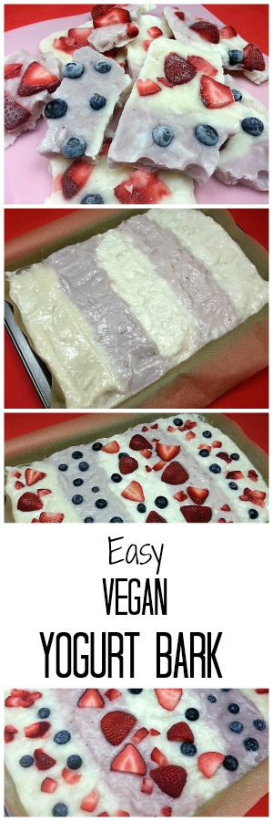 Easy Vegan Fruit and Yogurt Bark