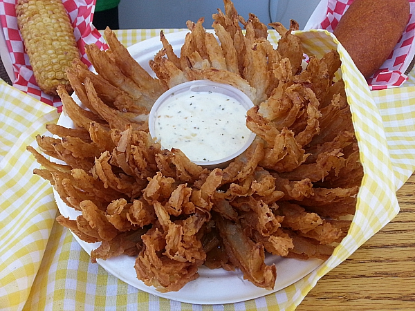 Los Angeles County Fair Food - Blooming Onion