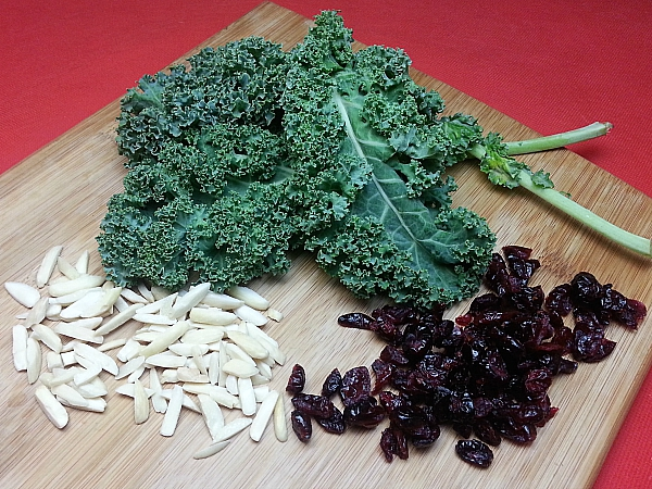 Cranberry Kale Salad Ingredients