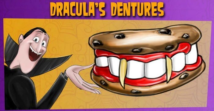 draculas dentures snack recipe