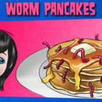 Hotel Transylvania Halloween Party Food – Worm Pancakes