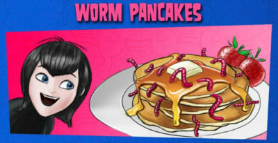 halloween worm pancakes recipe
