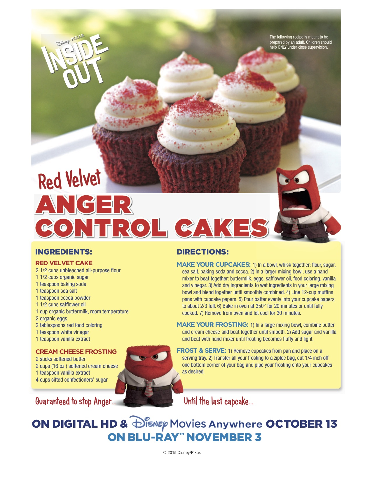 Disney Red Velvet Cupcake Recipe