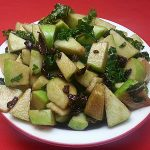 Apple Salad with Kale and Cranberries Recipe