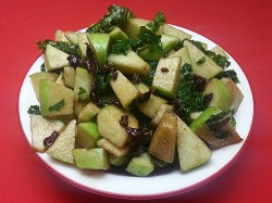 Apple Salad with Kale and Cranberries