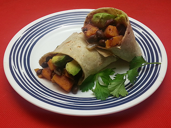 Vegan Sweet Potato & Black Bean Burritos