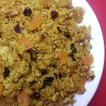 Fried Rice Recipe with Dried Fruit & Nuts