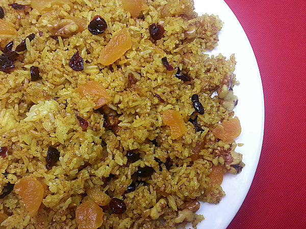 Fried Rice with Dried Fruit & Nuts | Mama Likes To Cook