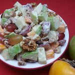 Apple Persimmon Waldorf Salad Recipe